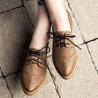 Pointed Brogue Oxfords