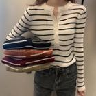 Striped Knit-top