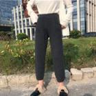 Cropped Harem Knit Pants