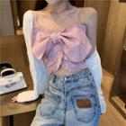 Bow Camisole Top Light Pink - One Size