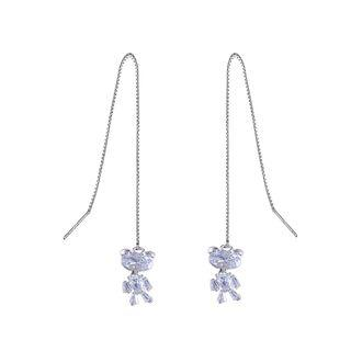 Rhinestone Bear Drop Earring