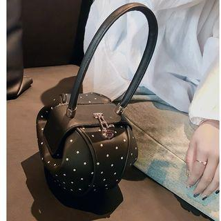 Dotted Faux Leather Hand Bag
