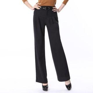 Wide-leg Pleated Pants