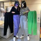 Band-waist Cropped Sweatpants