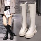 Platform Hidden Wedge Zipper Tall Boots