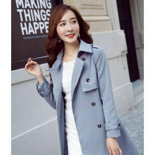 Double Button Trench Coat With Belt