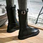 Strapped Mid Calf Boots