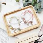 Alloy Flower Bead Bracelet