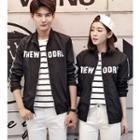 Printed Zip Couple Jacket