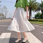 Chiffon Semi A-line Skirt