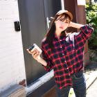 Pocket-front Cotton Check Shirt