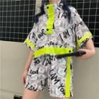 Printed Short Sleeve Shirt / Shorts
