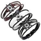 Rudder Genuine Leather Layered Bracelet