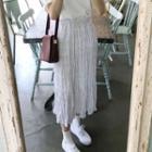Dotted Midi Crinkle Skirt
