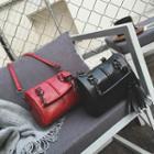 Tasseled Chain Strap Bowler Bag