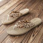 Leopard Print Flip-flops