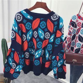 Leaf Pattern Sweater