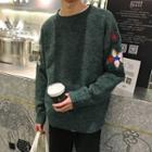 Embroidery Round Neck Sweater