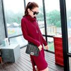 Turtleneck Long-sleeve Knit Dress
