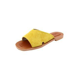 Faux-suede Slide Sandals