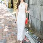 Halter Maxi Sheath Dress