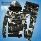 Set: Camouflage Hooded Pullover + Sweatpants