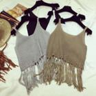 Fringe Knit Camisole Top