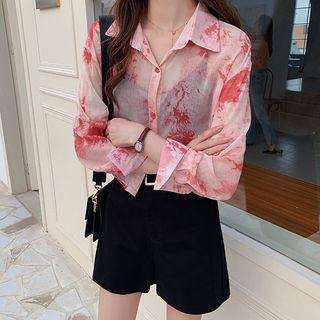Tie-dyed Chiffon Shirt