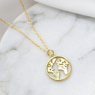 World Map Necklace As Shown In Figure - One Size
