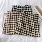 Houndstooth Woolen Mini Skirt
