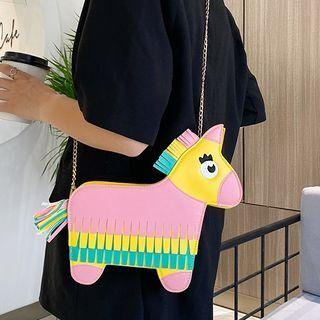 Unicorn Chain Strap Crossbody Bag Yellow - One Size