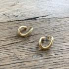 Open Hoop Earrings Gold - One Size