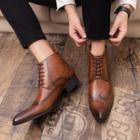 Lace-up Ankle Oxford Boots