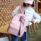 Cat Badge Canvas Backpack
