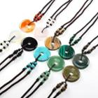 Agate Pendant String Necklace