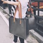 Set: Faux Leather Tote Bag + Crossbody Bag