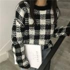 Check Chunky Knit Sweater