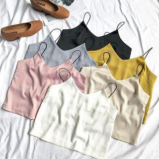 Plain Chiffon Cropped Camisole Top