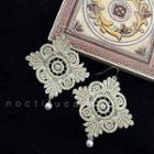 Lace Faux Pearl Earrings