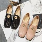 Patent Block Heel Loafers