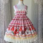 Printed Lolita Sleeveless A-line Dress