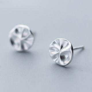 925 Sterling Silver Lotus Leaf Stud Earring As Shown In Figure - One Size