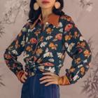 Long-sleeve Floral Printed Shirt