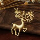 Alloy Christmas Deer Brooch As Shown In Figure - One Size