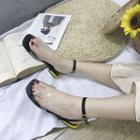 Ankle Strap Transparent Flat Sandals