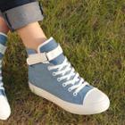 Velcro High-top Hidden Wedge Sneakers
