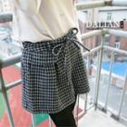 Houndstooth Pleated Shorts