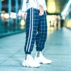 Patchwork Plaid Jogger Pants