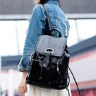 Tassel Faux Leather Backpack