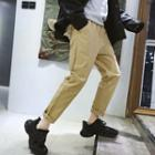 Cropped Straight Cut Pants / Cargo Pants